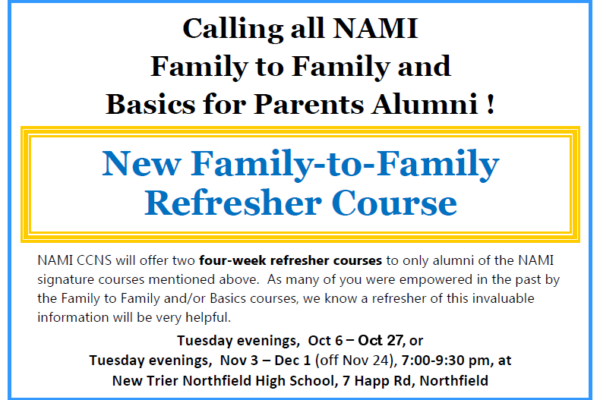 2015 Family To Family Refresher Course NAMI CCNS