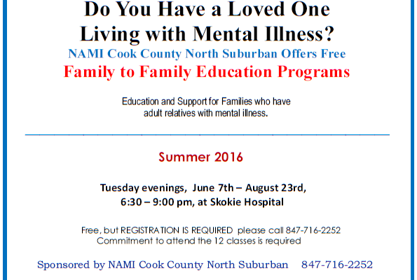 2016 Summer Family-to-Family NAMI CCNS