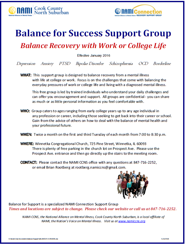 2016 Balance for Success NAMI CCNS Support Group