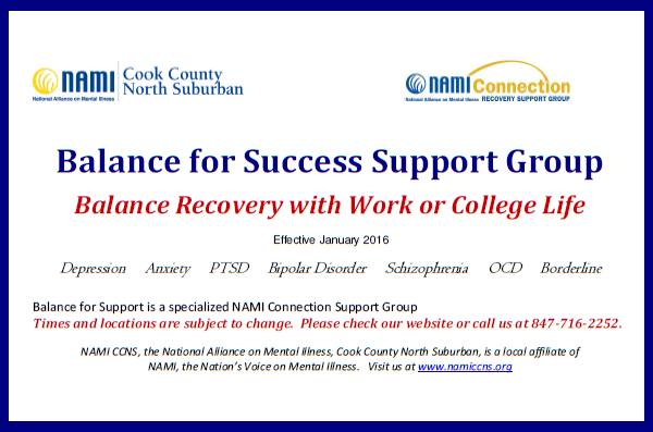 2016 Balance for Success Support Group