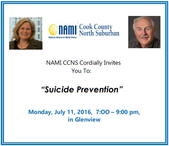 2016 NAMI CCNS - Public Education Meeting - Suicide Prevention - July, 11