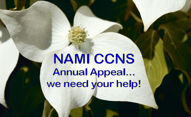 2016 namiccns annual appeal 1 Dear Friends of NAMI CCNS.. our annual appeal letter, we need your help.