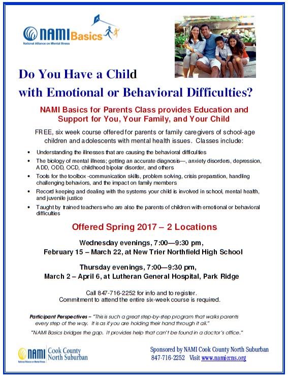 2017 NAMI CCNS Spring Class - Basics for Parents