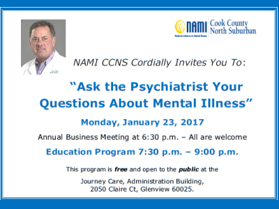 2017 NAMI CCNS Education Meeting January 23