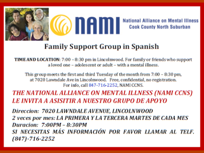 NAMI CCNS Family Support Group in Spanish