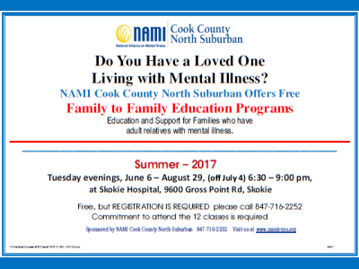 2017 NAMI CCNS Summer Family to Family
