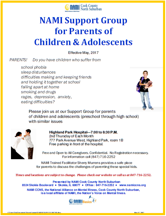 2017 namiccns support parents of children adolescents