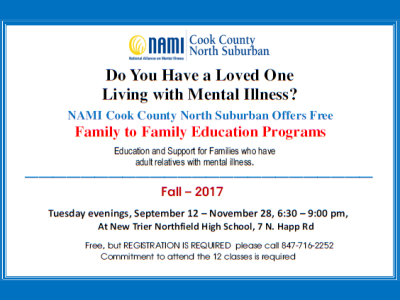 2017 NAMI CCNS Family to Family Fall