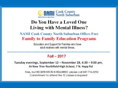 2017 NAMI CCNS Family to Family Fall
