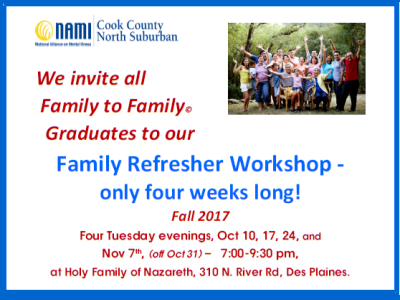 2017 NAMI CCNS Family to Family REFRESHER Fall