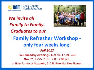 2017 NAMI CCNS Family to Family REFRESHER Fall