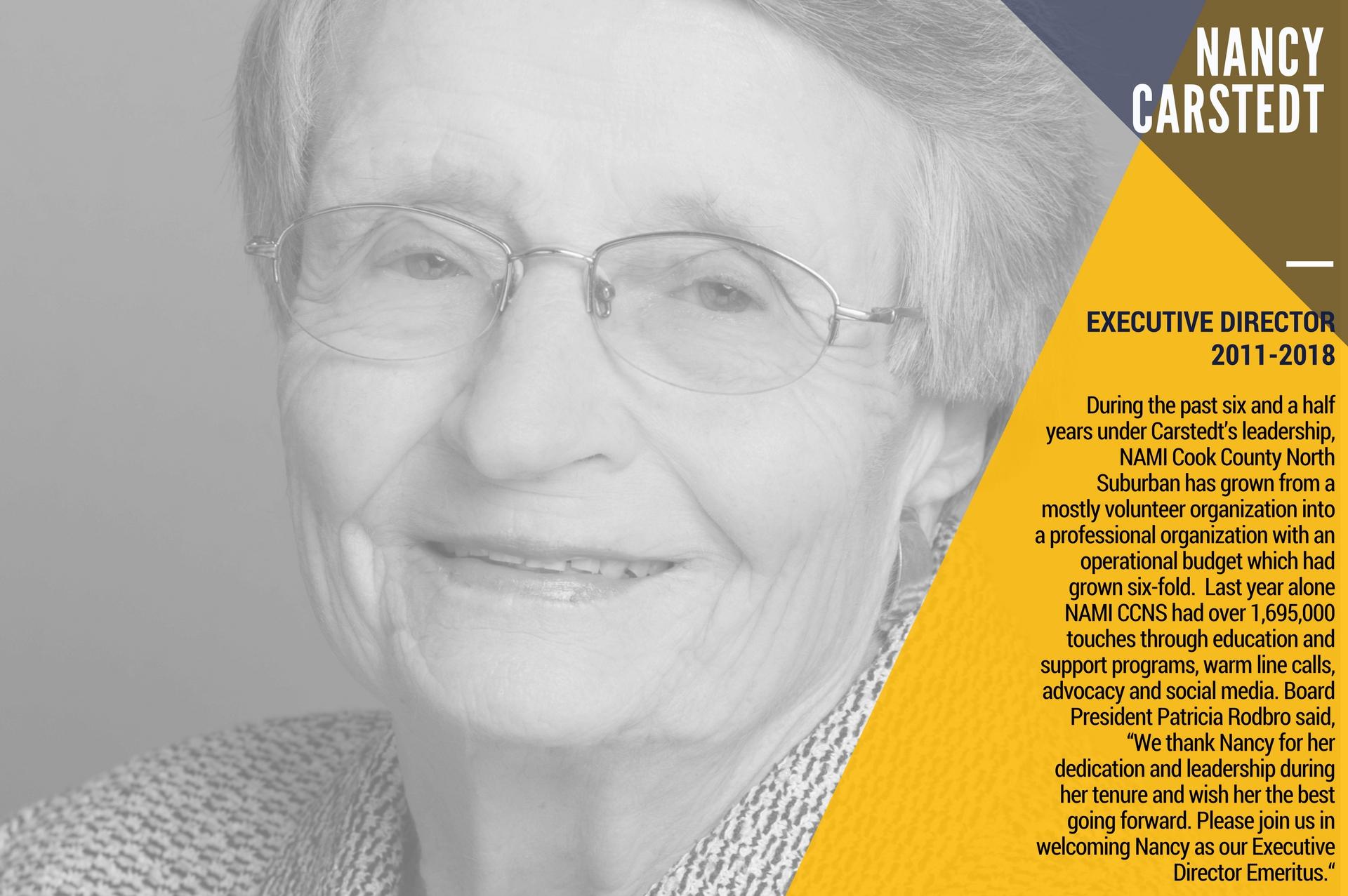 Nancy Carstedt   Executive Director NAMI retires