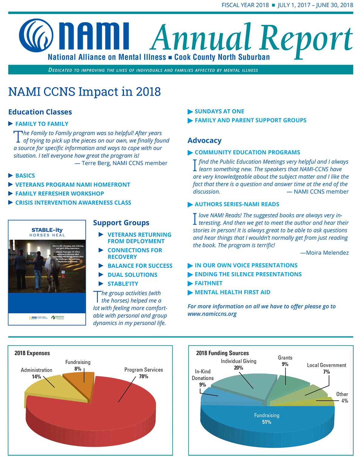 2018 Annual Report NAMI CCNS