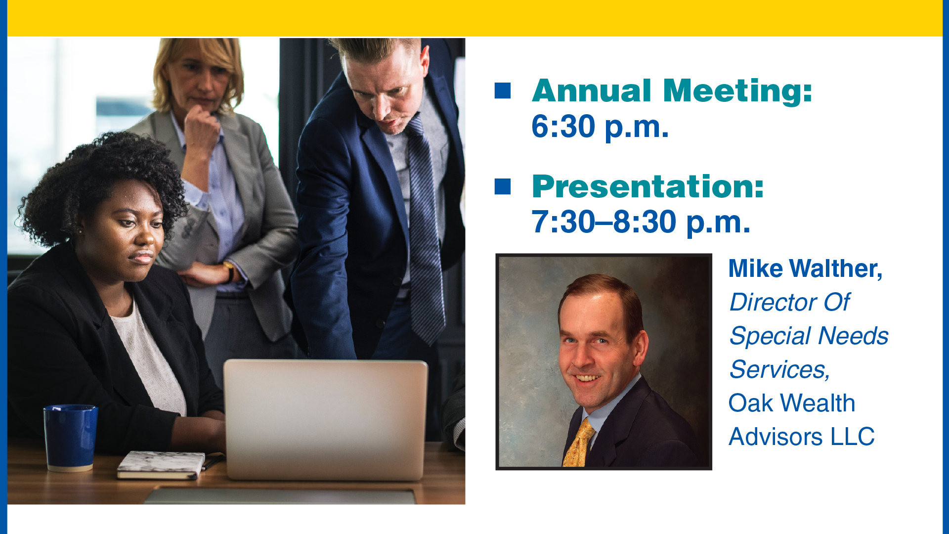 oak wealth NAMI CCNS Annual Meeting | 7 Essential Elements for Successful Special Needs Planning
