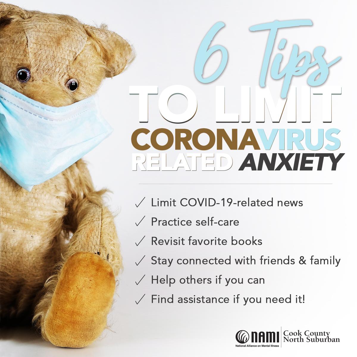 6 Tips to Limit Coronavirus Anxiety