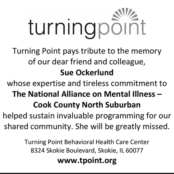 Turning Point pays tribute to the memory of our dear friend and collegue, Sue Ockerlund.