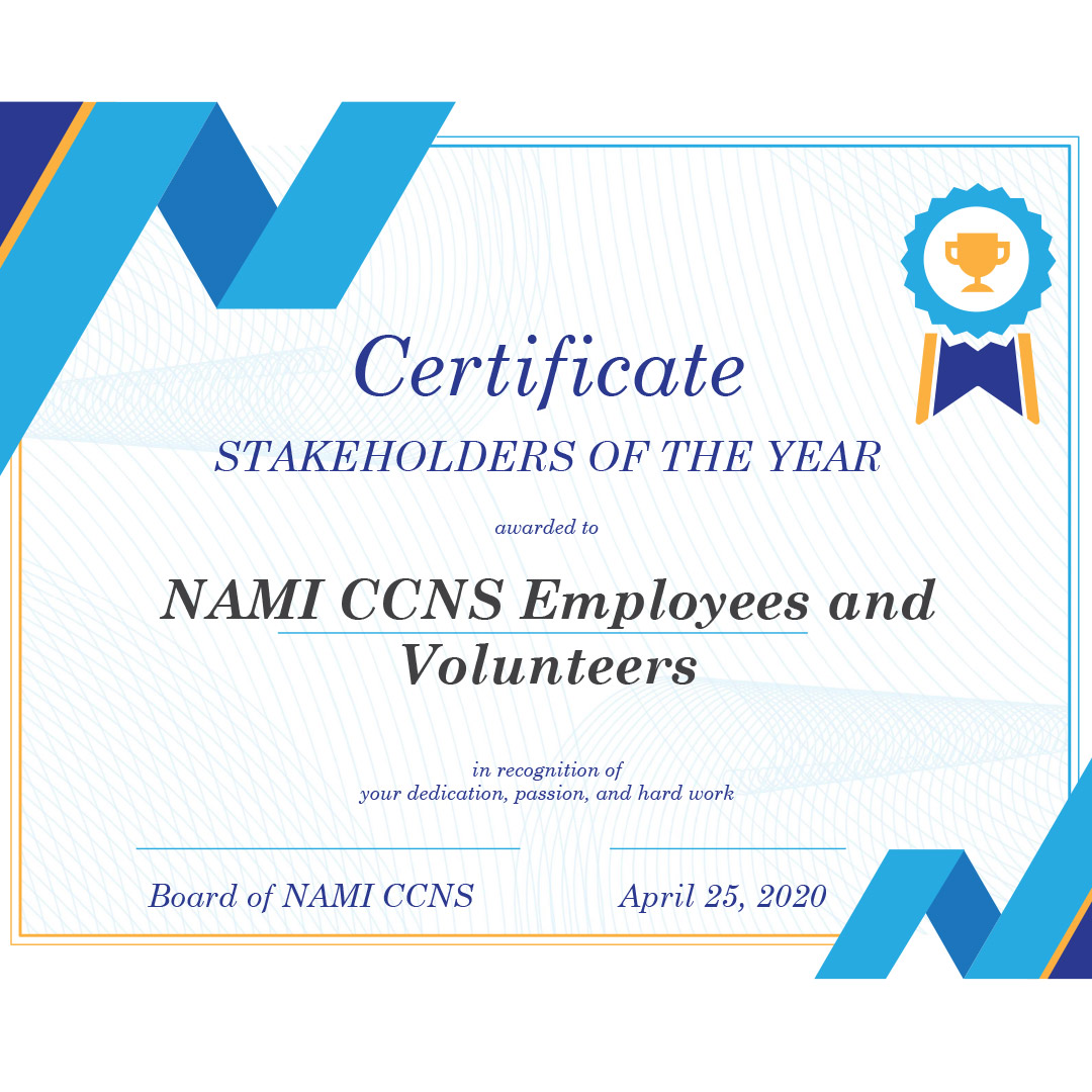 Thank you to NAMI CCNS